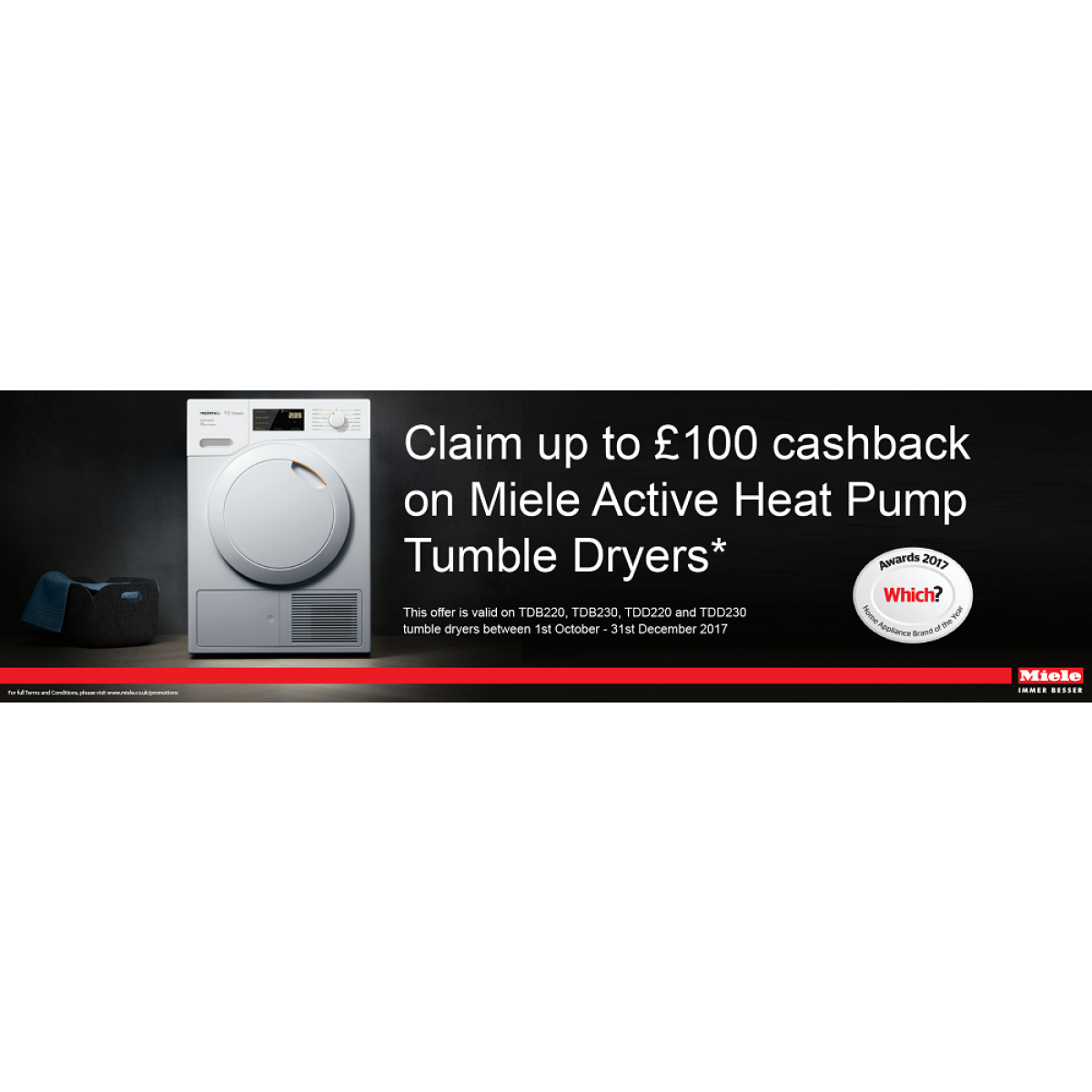 Miele TDD230WP Active Family T1 Classic heat-pump tumble dryer