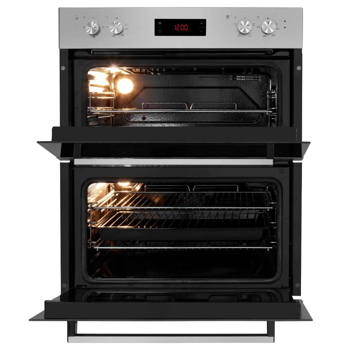 beko built under electric double oven ctf22309x. Black Bedroom Furniture Sets. Home Design Ideas