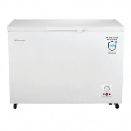 Fridgemaster MCF306 112.5cm Static Chest Freezer - White - A+ Energy Rated (perfect for garages and outbuildings)