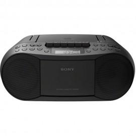 Sony CFDS70BCEK Cass/CD/Radio Boom Box 2 x 1.7w RMS 30 Radio Presets