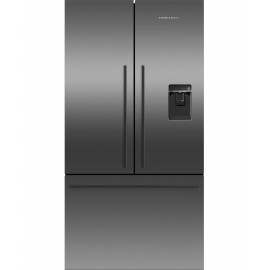 FISHER & PAYKEL RF540ADUB5  Black French Door Fridge freezer with ice & water