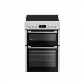 Blomberg HKN65W 60cm Electric Double Oven with Ceramic Hob - White