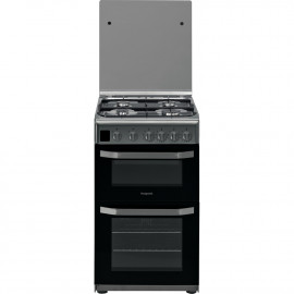 HOTPOINT HD5G00CCX 50cm gas COOKER - STAINLESS STEEL