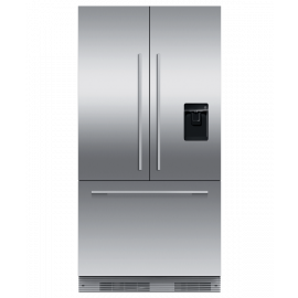 Fisher & Paykel RS90AU2 Integrated French Door Refrigerator Freezer, 90cm, Ice & Water