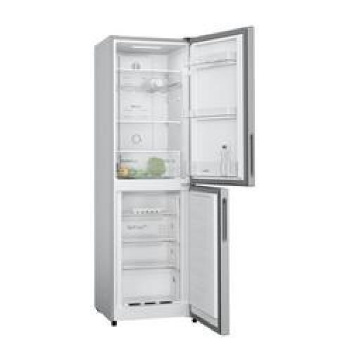 Bosch KGN27NLFAG 55cm Fridge Freezer - Silver - Frost Free